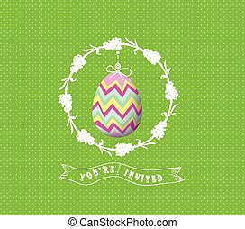 easter egg invited greeting card