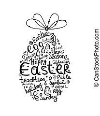Easter egg, sketch for your design