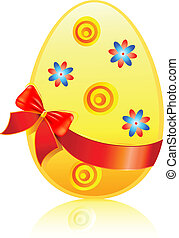 Easter egg souvenir with bow