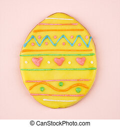 Easter egg sugar cookie.