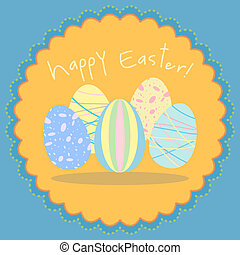 Easter egg vector card in pastel co