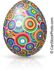 Easter Egg. Vector illustration on white background for...