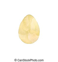 Easter egg. Vector illustration of watercolor egg with ombre...