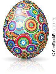 Easter Egg. Vector illustration on white background for...