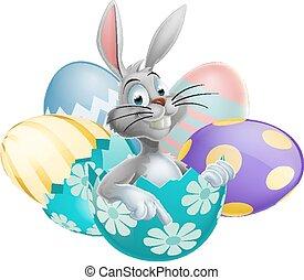 Easter Egg White Rabbit
