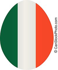 Easter egg with colors of Ireland flag