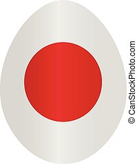 Easter egg with colors of Japan flag