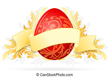 Easter Egg with Floral Decoration