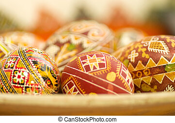 Easter egg with ornate