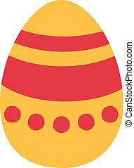 Easter egg with pattern