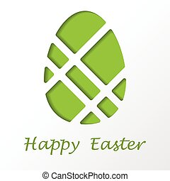 Easter egg with text