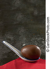 Easter Eggg in a Spoon
