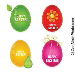 easter eggs abstract creative sign