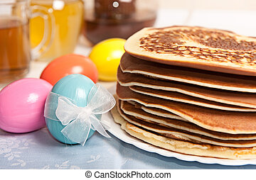 Easter eggs and pancakes