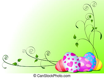 Easter eggs background - Fine painted eggs background...