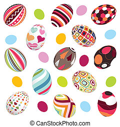 easter, eggs background