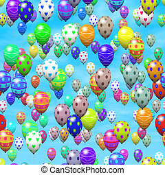 Easter eggs balloons generated hires texture
