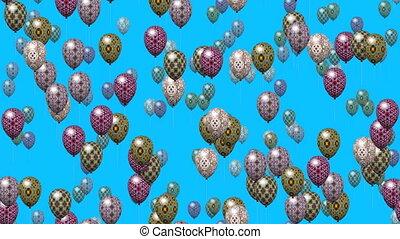 Easter eggs balloons seamless loop