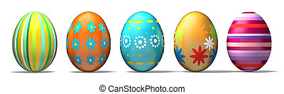 Easter Eggs - Beautiful Easter eggs. Clipping Path included.