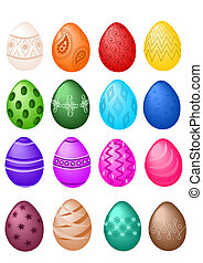 Easter eggs big set