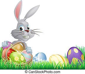 Easter eggs bunny