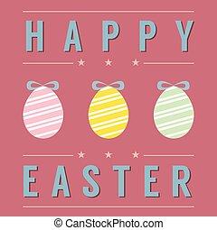 Easter Eggs Card.