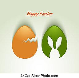 Easter eggs card invitation