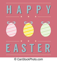 Easter Eggs Card.