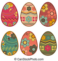 easter eggs - retro style easter eggs