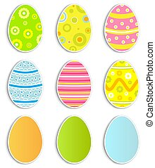 Easter eggs collection - Collection of nine Easter eggs...