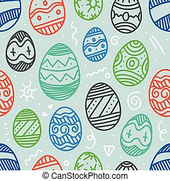 Easter eggs colorful vector seamless pattern