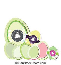Easter Eggs cute vector
