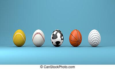 Easter eggs, design concept, 3d illustration