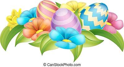Easter Eggs Design Element