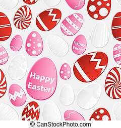 Easter eggs design from color paper collection seamless pattern eps10