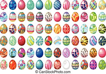 Easter eggs - Different design of easter eggs