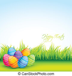 easter eggs - colorful easter eggs vector design