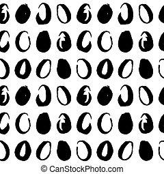 Easter Eggs Handdrawn Seamless Pattern