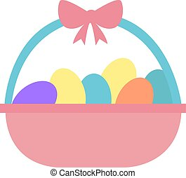 Easter eggs, illustration, vector on white background.