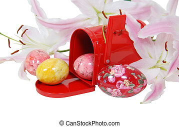Easter eggs in the mailbox