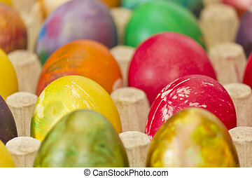 Easter eggs in various colors
