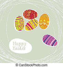 Easter eggs modern background.