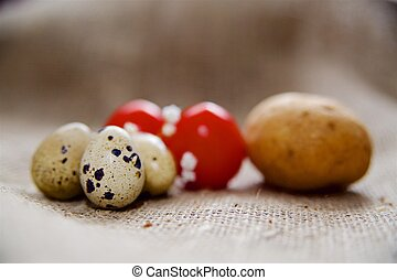 Easter eggs on a beautiful background