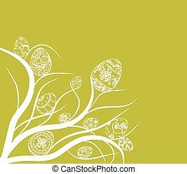 easter eggs ornament doodle