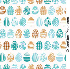 Easter eggs ornaments seamless pattern