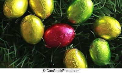 Easter eggs packed in aluminium in