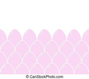 Easter eggs pattern. Background for easter design