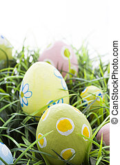 Easter eggs - Hand painted Easter eggs with rought strokes...