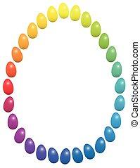 Easter Eggs Rainbow Frame