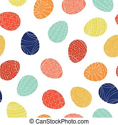 Easter eggs - seamless pattern. Colorful background.